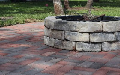 DIY Paver Patio with Firepit