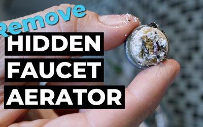 Remove Water Faucet Hidden Aerator (Delta)
